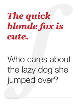 The Quick Blonde Fox