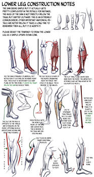 Lower Leg Construction Notes: details we forget
