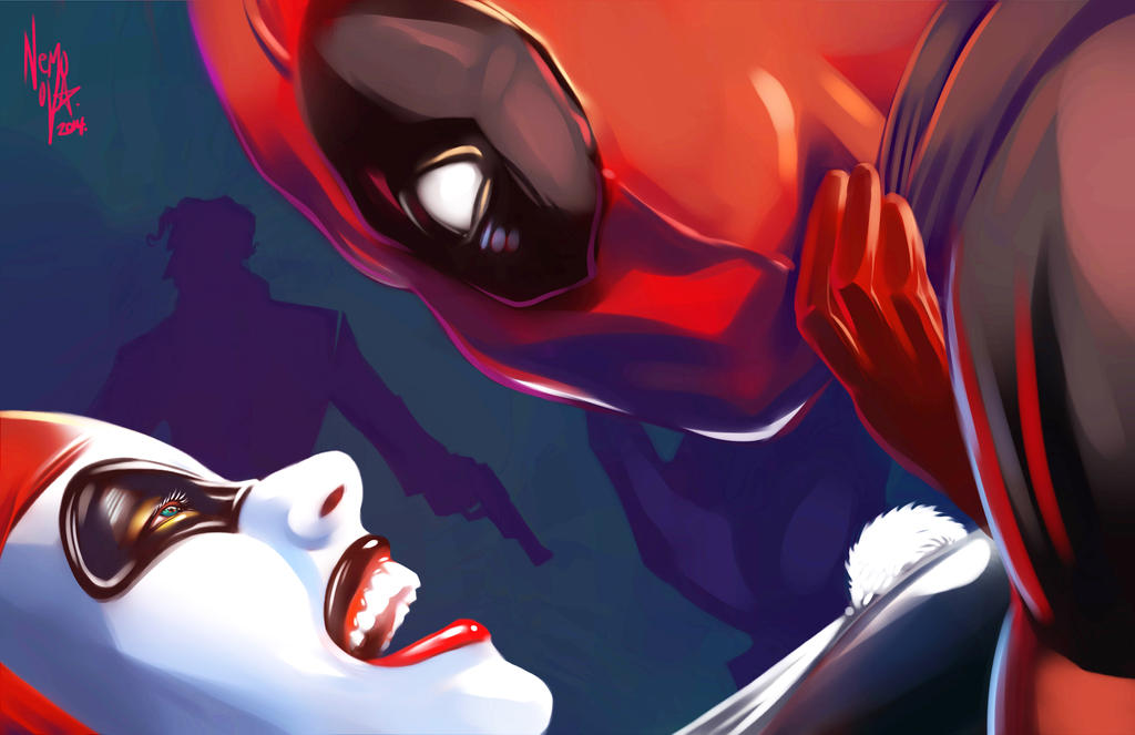 A hot mess harley quinn deadpool joker by nemonova on deviantart - Deadpool harley quinn notebook ...
