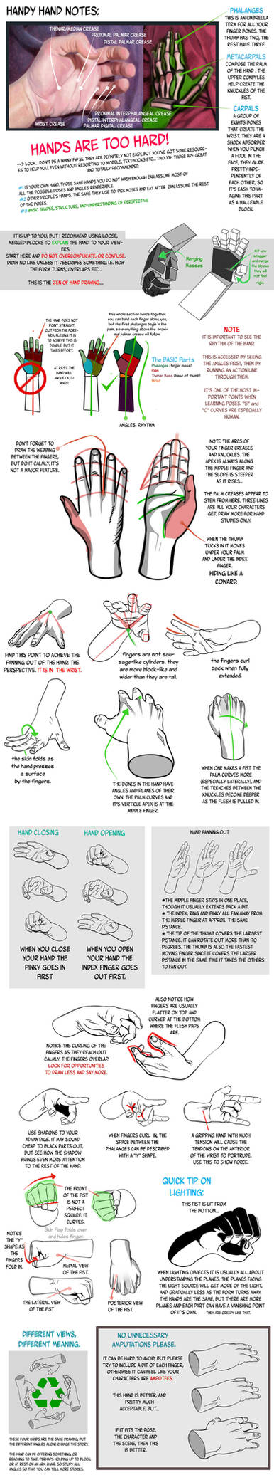 Hand Tutorial Notes