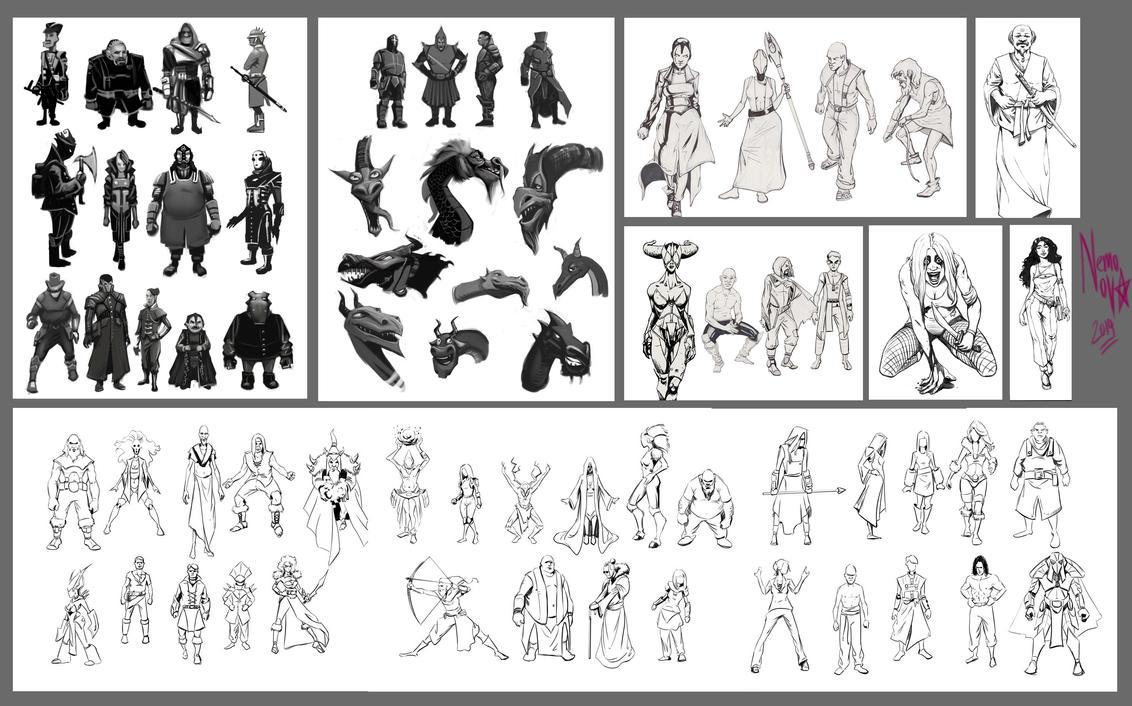 Fantasy Character Chart by NemoNova