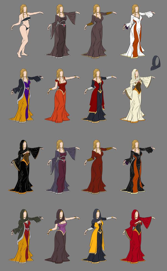 Lady Macbeth Dress Designs by NemoNova