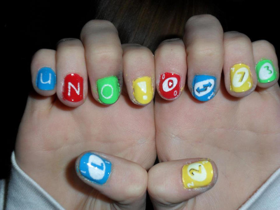 Uno Nails by JennyBean4u