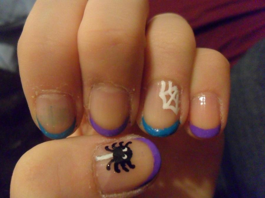 French-tip halloween nails by JennyBean4u on DeviantArt