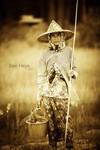 Thai fisherwoman