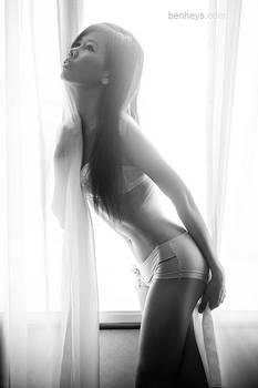 Lenacy in lingerie