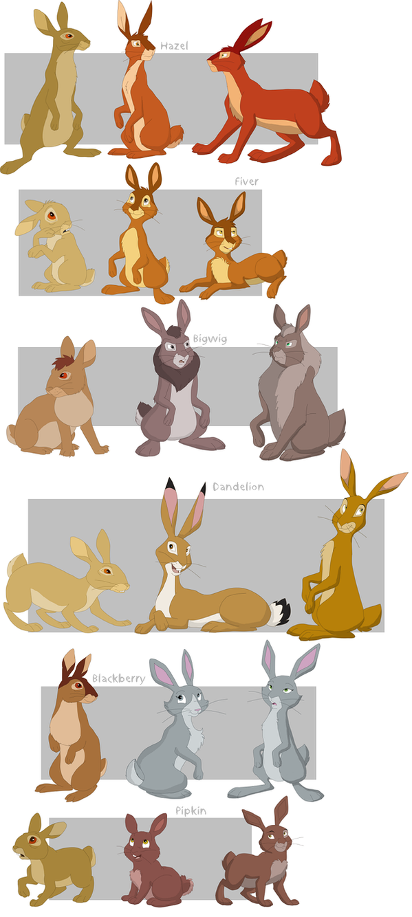 Watership Down charas part1 by shuvuuia