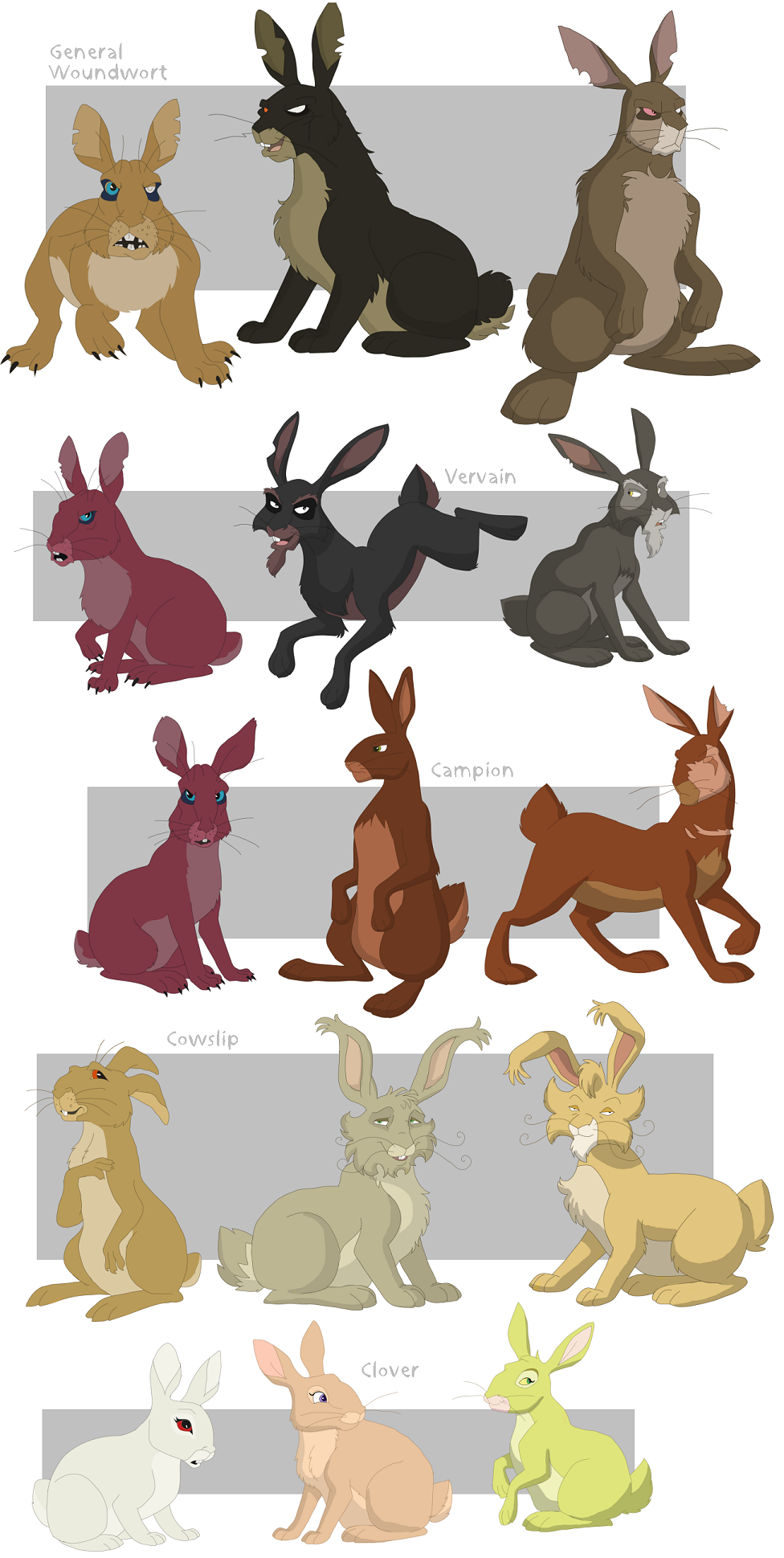 Hazel watership down characters for Find and design tv show