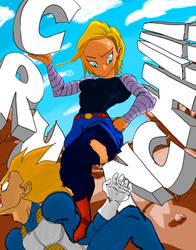 Android 18 ''The Queen'' by BlaqmanJr