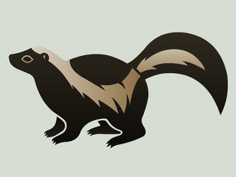 Striped Skunk by DamballaProductions