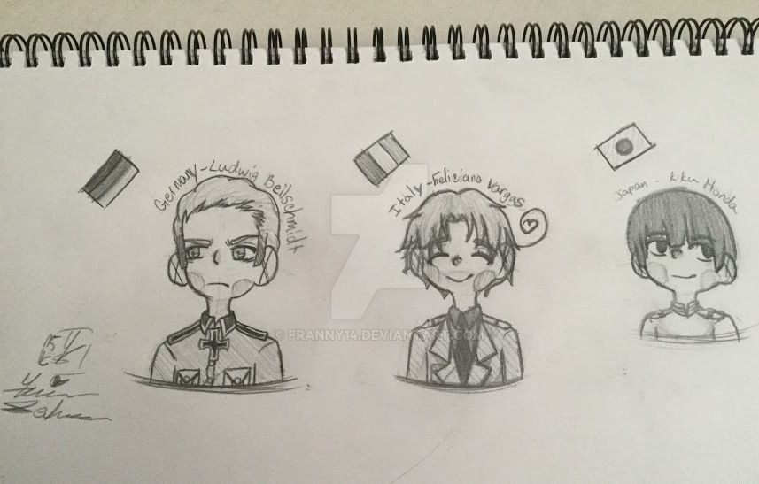 Aph Hetalia Axis Powers by franny14