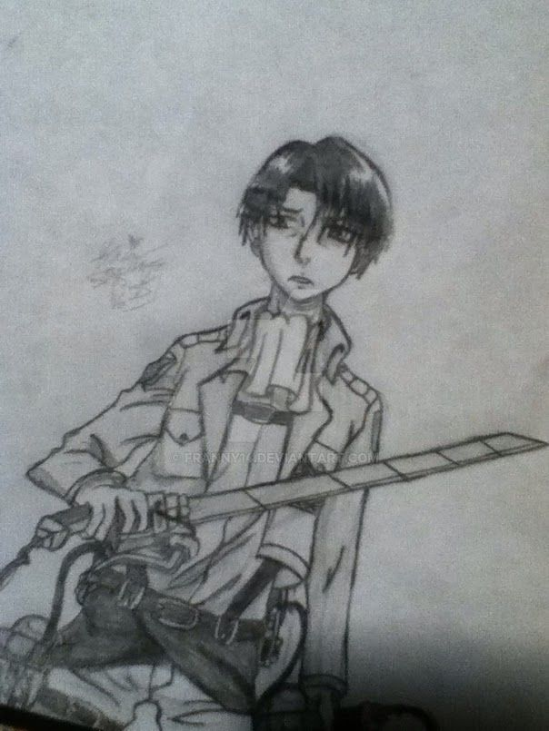 Attack on titan Levi by franny14