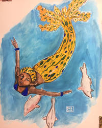 Mermaid from Nigeria by sutdisi