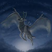 Deer spirit by Liraelwolf