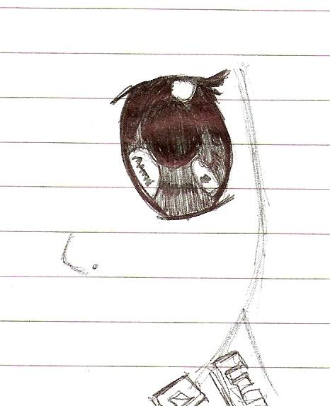 Anime eye - doodle 2 by Lady-Saber-123