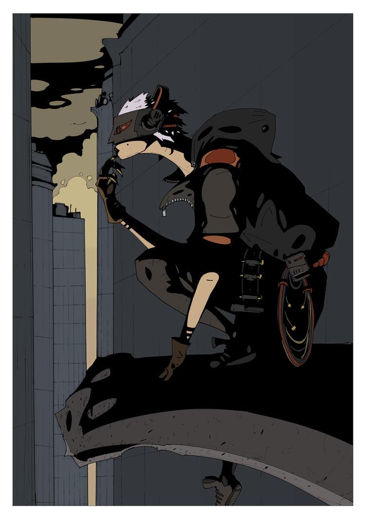Catwoman, Data-Thief by DarkMechanic
