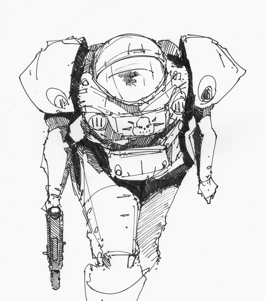 Starcraft Warm Up Sketch by DarkMechanic