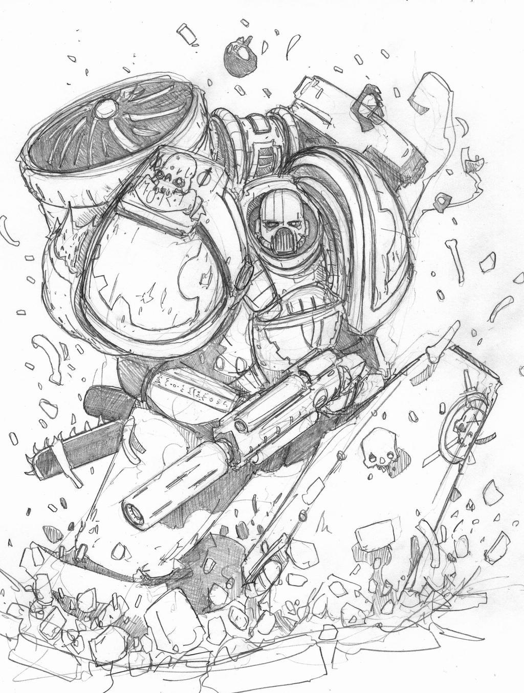 Emperor's Hawk Sketch by DarkMechanic