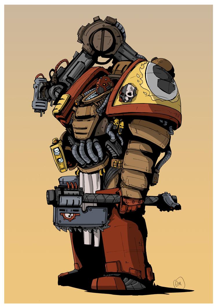 Imperial Fist Tech Marine by DarkMechanic