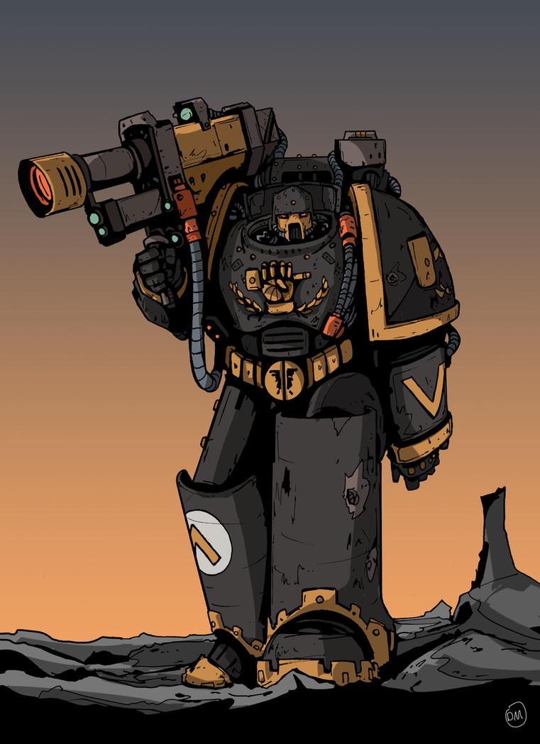 Hammer of Dorn Marine by DarkMechanic