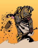 Iron Warrior Psyker by DarkMechanic