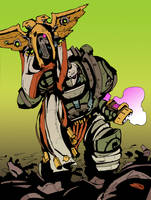 Death Guard Herald by DarkMechanic