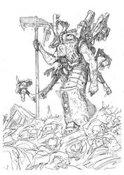 Ferrus Manus Pencils by DarkMechanic