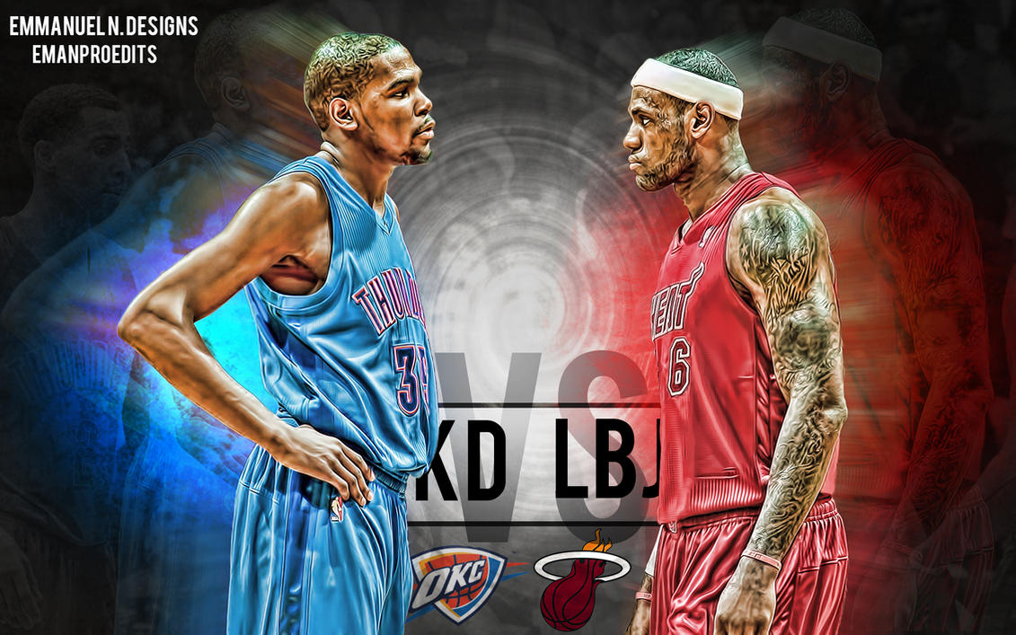 Kevin Durant Vs Lebron James Wallpaper By Emanproedits