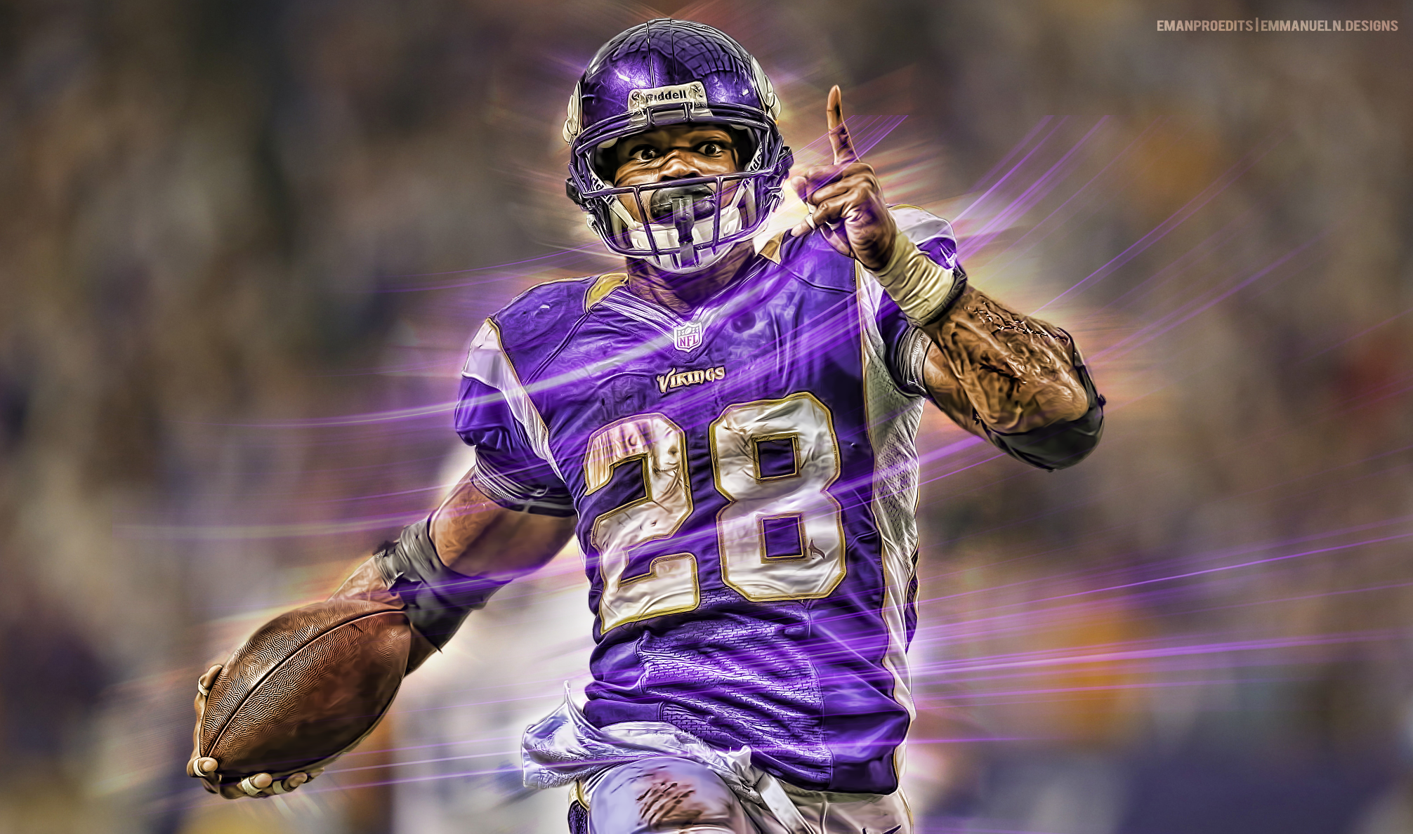 Cool Nfl Player Edits: Adrian Peterson Wallpaper By Emanproedits On DeviantArt