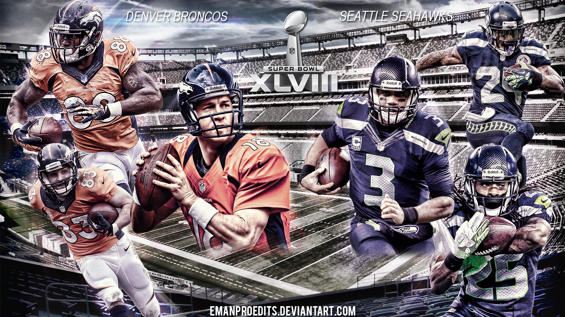 Super Bowl 48 Wallpaper By Emanproedits