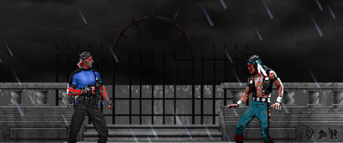 Stryker And Nightwolf (Zombie) + The Coast by pandudragon234