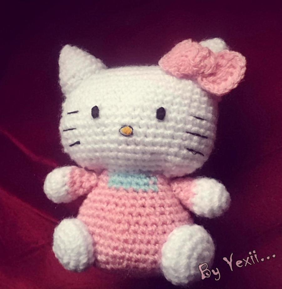 Crochet Doll Hat Pattern Free : Hello kitty Amigurumi by JustYexii on DeviantArt