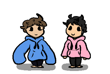Two Ding Dongs in hoodies by IcyPlayzGamez