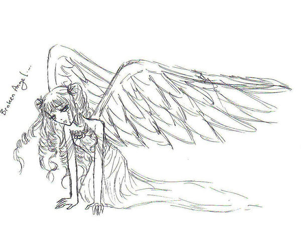 fallen angel coloring pages - fallen angel by shellthing on deviantart