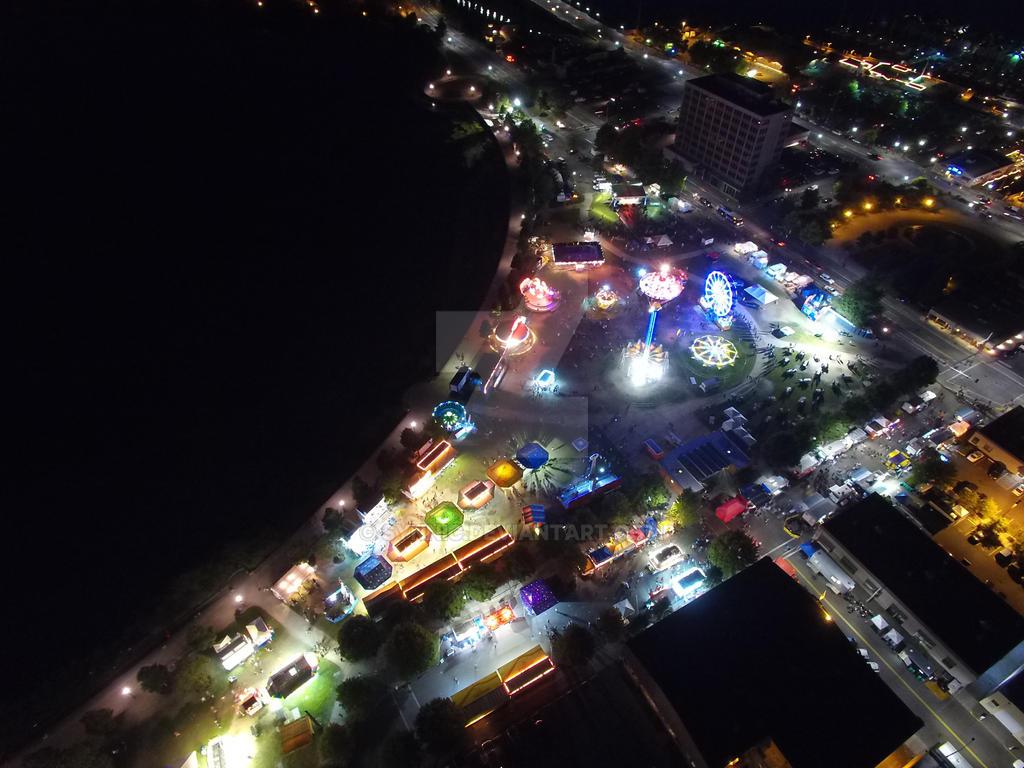 Lake Fair at Night