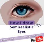 How I draw semirealistic eyes