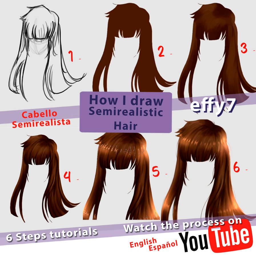 How to draw Hair video Como dibujar Cabello