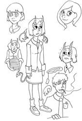 Floating Heads 3 by Genfaux