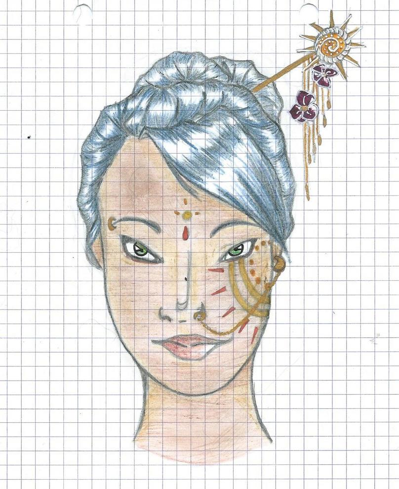 Sereine Portrait au crayon by mcirnelle