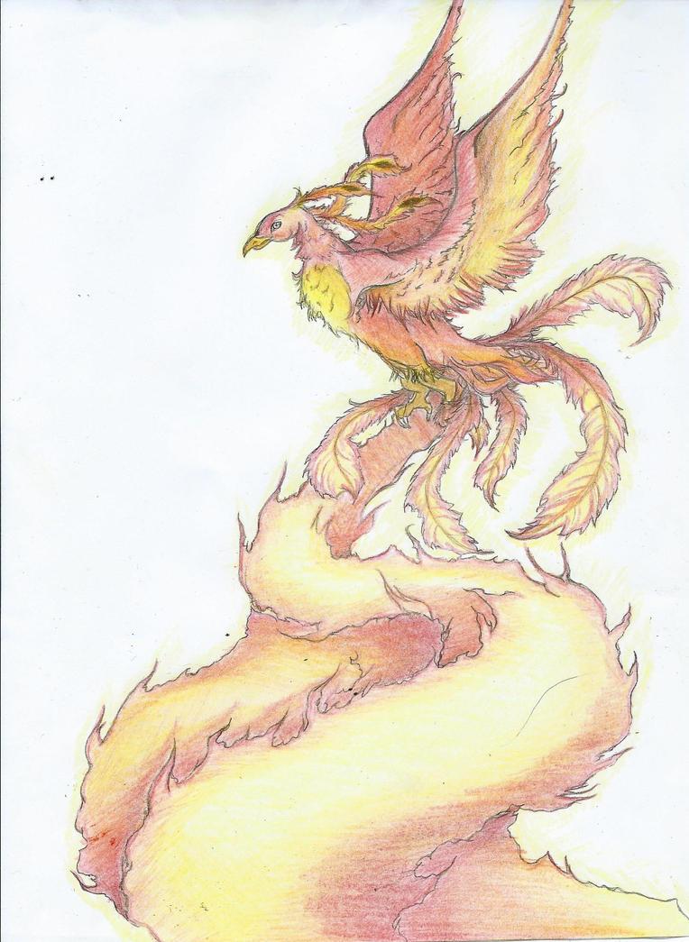 Phoenix Crayon by mcirnelle