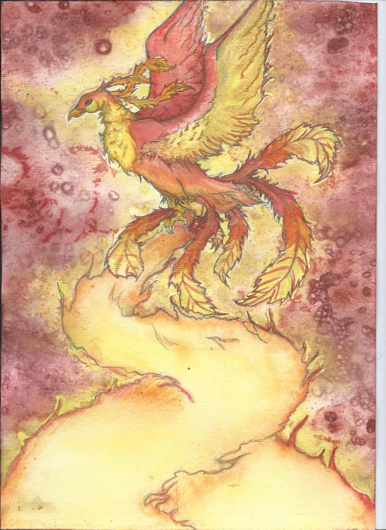 Phoenix Aquarelle by mcirnelle