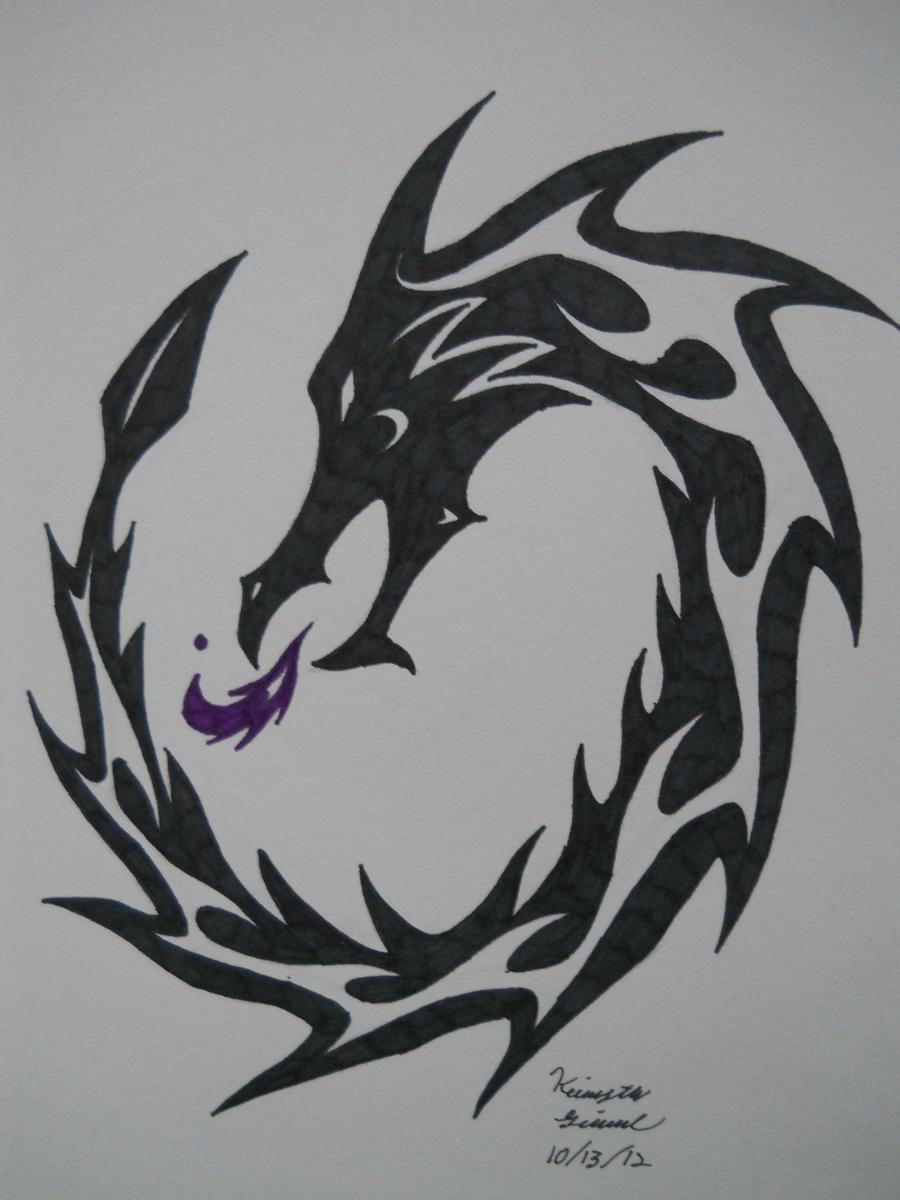 Fire dragon tribal tattoo by archangelvampire on deviantart for Dragon fire tattoos
