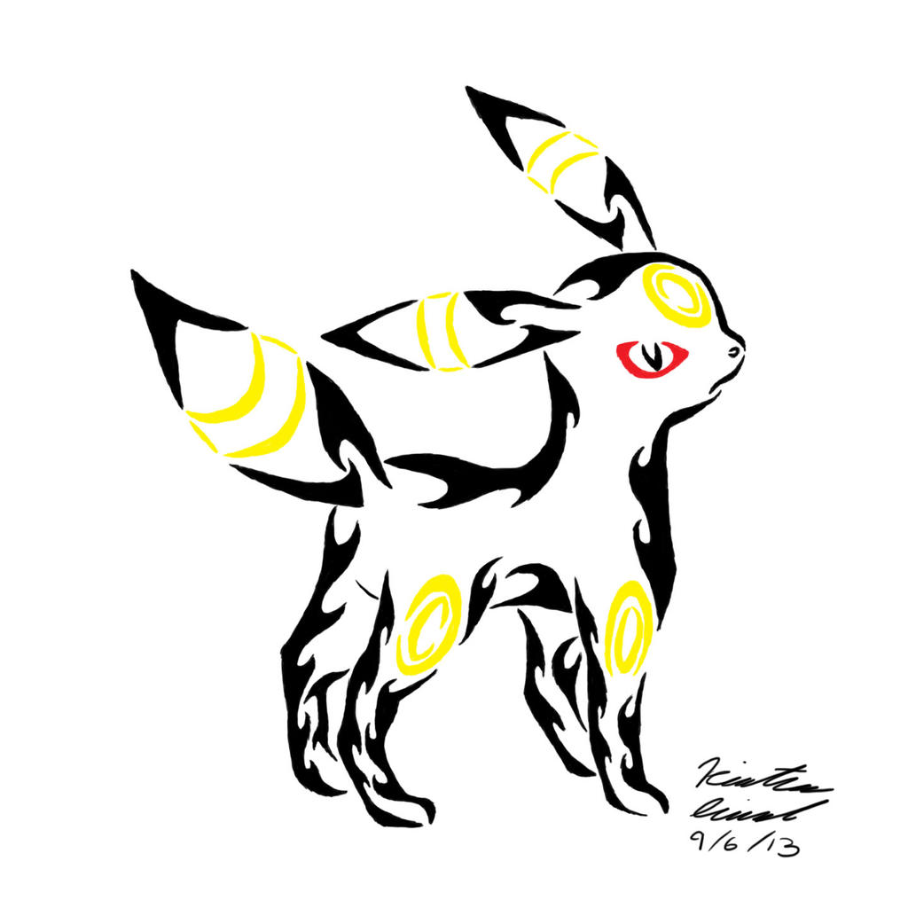 Umbreon Tribal Tattoo by ArchangelVampire on DeviantArt