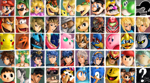 Super Smash Brothers Characters