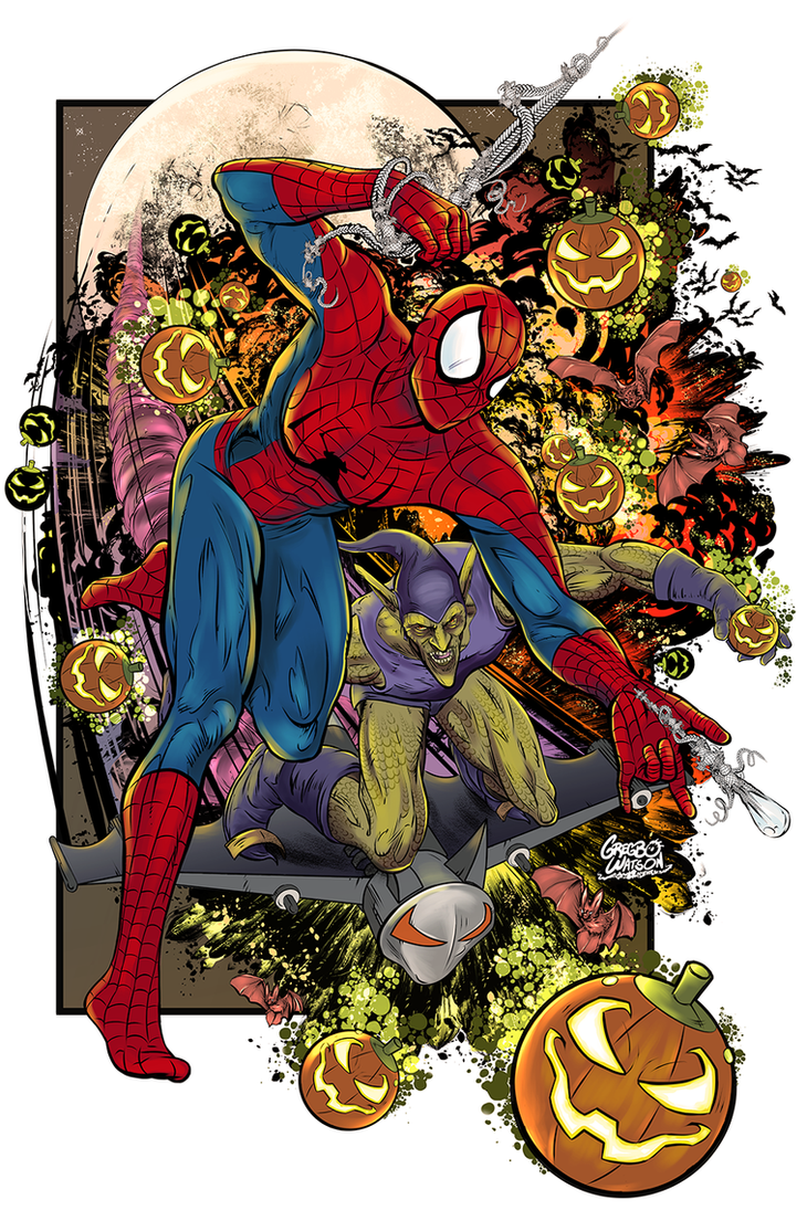 Spiderman and the Green Goblin by gregbo