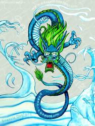 Water Dragon by snazzie-designz