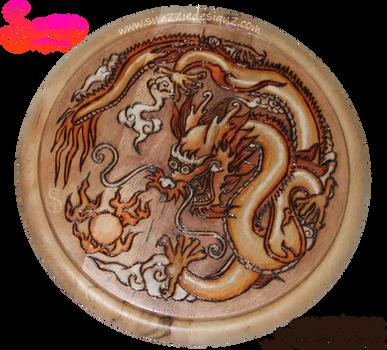 Dragon Pyrograph (Woodburning) by snazzie-designz