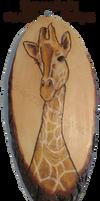 Giraffe Pyrograph