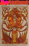 Celtic Unicorns Pyrograph (Woodburning)