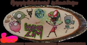 Invader Zim Pyrograph (Wood burning)